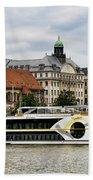 Danube Riverboat In Budapest Bath Towel