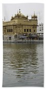 Darbar Sahib And Sarovar Inside The Golden Temple Bath Towel