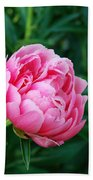 Dark Pink Peony Flower Series 2 Bath Towel