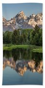 Dawn At Schwabacher Landing Hand Towel