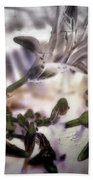 Day Lilies - Abstract Bath Towel