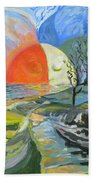 Day Meets Night Hand Towel