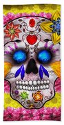 Day Of The Dead - Death Mask Bath Towel