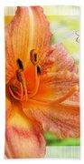 Daylily Greeting Card Easter Bath Towel