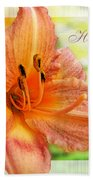 Daylily Greeting Card Mothers Day Bath Towel
