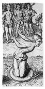 De Bry: Magician, 1591 Bath Towel