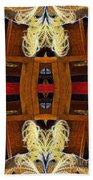 Death - Card Xi From The Tarot Of Flowers Bath Towel