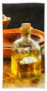 Decanter Of Oil Hand Towel
