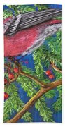 December Berries Bath Towel