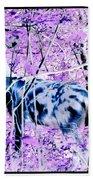 Deer In The Woods Inverted Negative Image Bath Towel