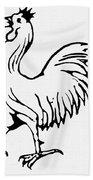 Democratic Rooster, 1840 Bath Towel