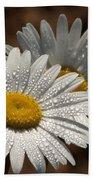 Dew Tell Oxeye Daisy Wildflowers Bath Towel