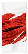 Digital Streak Image Of A Poinsettia Bath Towel