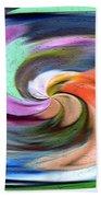Digital Swirl Of Color 2001 Bath Towel