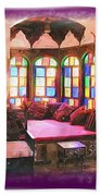 Do-00520 Emir Bachir Palace Interior-violet Bkgd Bath Towel