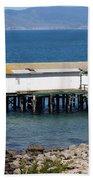 Dock At Point Reyes Calfornia . 7d16070 Bath Towel