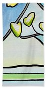 Dogwood Stained Glass I Bath Towel