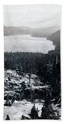 Donner Lake - California - C 1865 Bath Towel