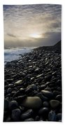 Doolin, County Clare, Ireland Pebble Bath Towel