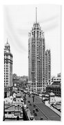 Downtown Chicago Bath Towel