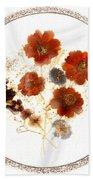 Dried Flower Art Bath Towel