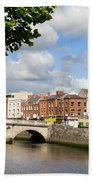 Dublin Cityscape Bath Towel