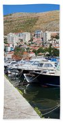 Dubrovnik Cityscape And Harbor Bath Towel