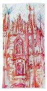 Duomo City Of Milan In Italy Portrait Bath Towel