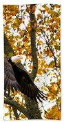 Eagle In Autumn Bath Towel