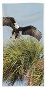 Eagle In The Palm Bath Towel
