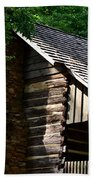 Early 19th Century Log Cabin Bath Towel