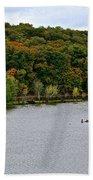 Early Autumn Shoreline Bath Towel