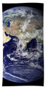 Earth From Space Bath Towel
