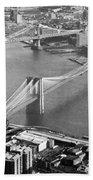 East River Bridges New York Bath Towel
