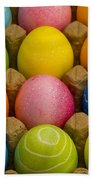 Easter Eggs Carton 2 A Bath Towel