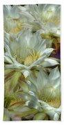 Easter Lily Cactus Bouquet Hdr Bath Towel