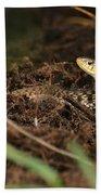 Eastern Garter Snake - Checkered Coloration Bath Towel