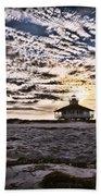 Eerie Lighthouse Bath Towel