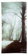 Eerie Winter Woods Bath Towel