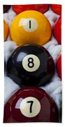 Eight Ball Hand Towel by Garry Gay