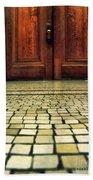 Elegant Door And Mosaic Floor Bath Towel