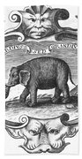 Elephant, 17th Cent Bath Towel