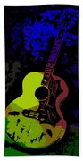 Elvis Gibson J200 Guitar Bath Towel