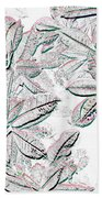 Embossed Crotons Bath Towel
