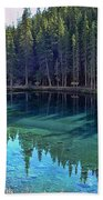 Emerald Mountain Pond Bath Towel