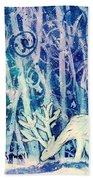 Enchanted Winter Forest Bath Towel