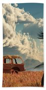 End Of The Road Bath Towel