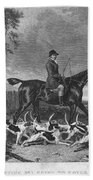 England: Fox Hunt, 1832 Bath Towel