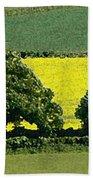 English Field Of Yellow 2 Bath Towel