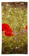 English Summer Meadow. Bath Towel